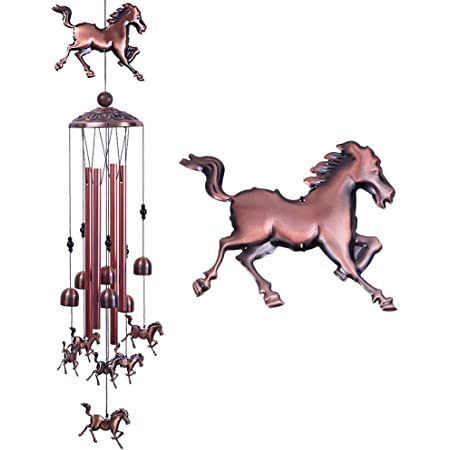 Horse head in the lucky shoe wind chime