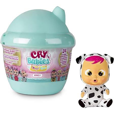 Cry Babies Magic Tears Casetta Biberon W2, Mini Bambola a Sorpresa da Collezione, con Lacrime Vere e Accessori, Giochi per Bambina i Bambino dai +3 Anni