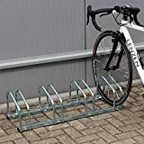 WilTec Soporte 4 Bicicletas Aparcamiento bicis Aparcabicis 95x33x27cm Metal...