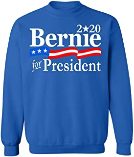 Promotion & Beyond Bernie for President 2020 USA Flag Crewneck Sweatshirt
