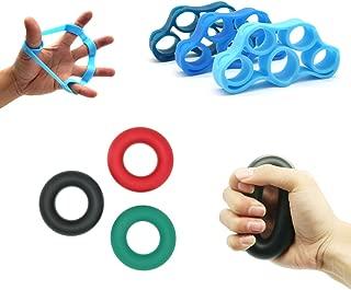 Hand Grip Strength Trainer,Extensor Hand Exerciser Grip Strengthener,Finger Strengthener Stretcher Resistance Bands,3 Levels Hand Gripper Strengthener Great for Hand Grip Workout & Finger Strength