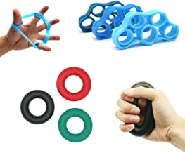 Hand Grip Strength Trainer,Extensor Hand Exerciser Grip Strengthener,Finger Strengthener Stretcher Resistance Bands,3 Levels Hand Gripper Strengthener Great for Hand Grip Workout & Finger Strength