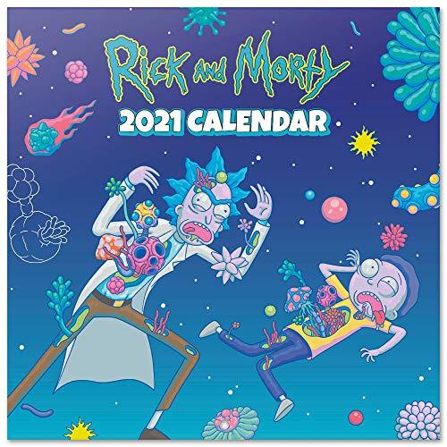 ERIK - Calendario de pared 2021 Rick & Morty, 30x30 cm, Producto Oficial (Incluye póster de regalo)
