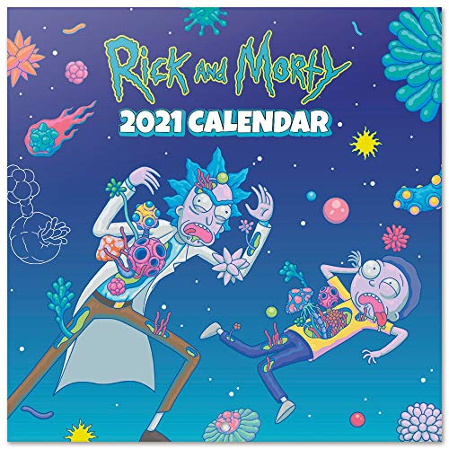 ERIK - Calendario de pared 2021 Rick & Morty, 30x30 cm, Producto Oficial (Incluye póster de regalo)