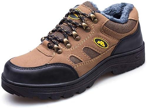XINGUANG Chaussures de randonnée pour Hommes, Chaussures de Prougeection en Coton et Deux Couleurs de Chaussures de Prougeection Disponibles