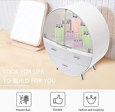 Storage Organizer Box with Drawer,Bathroom Countertop, Bedroom Dresser,Storage Organizer Box Suitable (A)