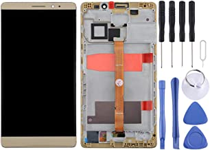 ZHANGTAI Sparts Parts Huawei Mate 8 LCD Screen and Digitizer Full Assembly with Frame(Black) Repair Flex Cable (Color : Gold)