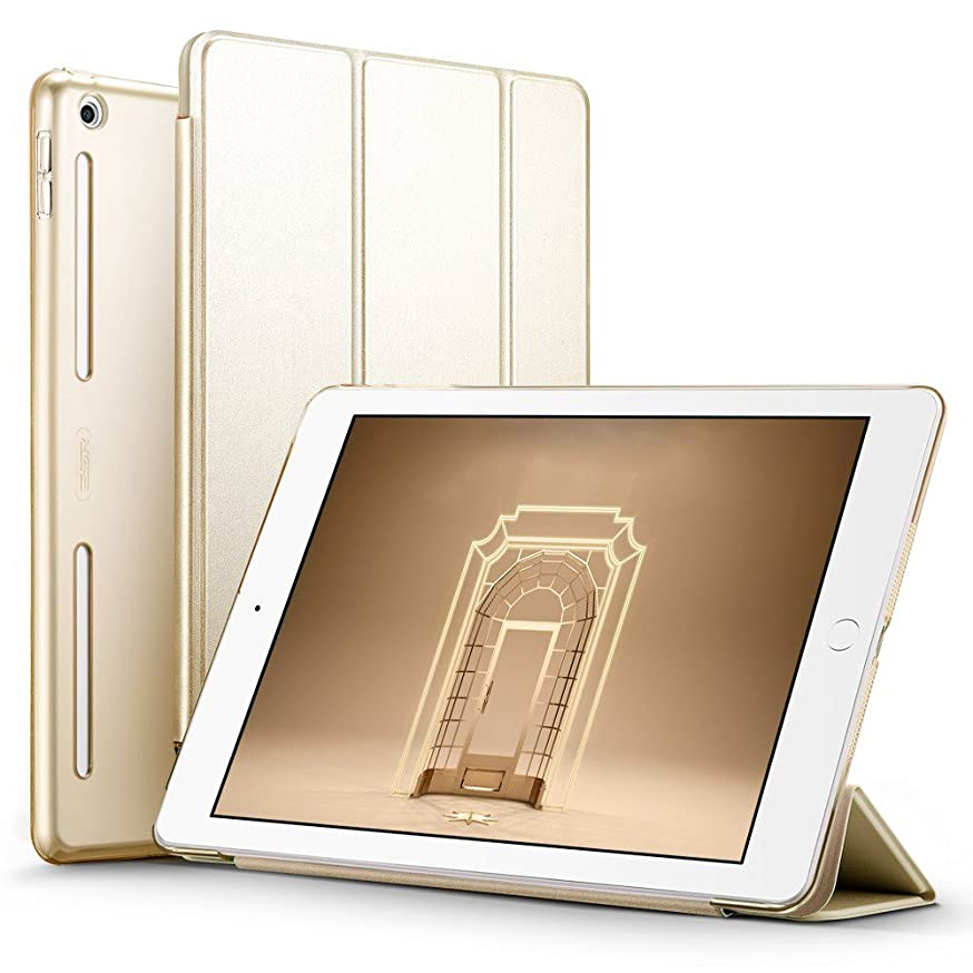 ESR iPad 9.7 2018/2017 Case, Soft TPU Bumper Edge Corner Protection Smart Case Cover Auto Wake Sleep Function Compatible for Apple iPad 9.7 inch 5th/6th Gen, Champagne Gold
