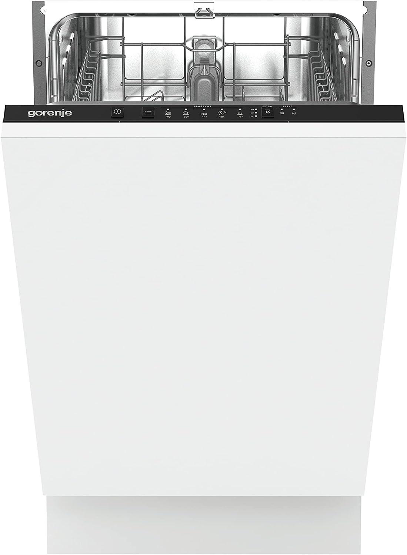Gorenje GV 52040 - Lavavajillas completamente integrado, 45 cm, 9 medidas de techo, 5 programas, protección completa contra desbordamiento