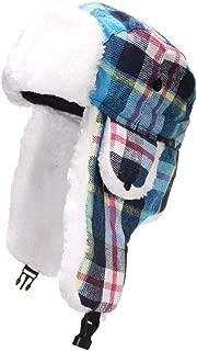 Best Winter Hats Big Kids Quality Madras Plaid Russian/Trapper Hat W/Faux Fur (One Size)