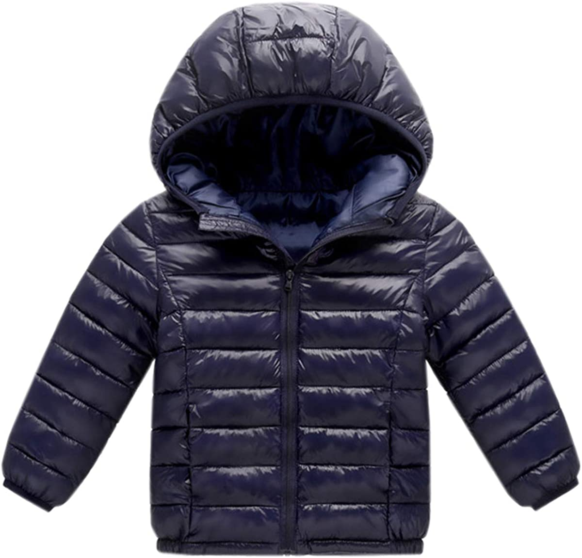 DAIMIDY Kids' Boys Girls Hooded Down Jacket, 18 Months - 11 Years
