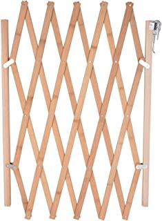 Hoomall Retractable Gate Expanding Fence Wooden Screen Door Gates Doorways Portable Dog Pet Gate Pet Safety Patio Garden Lawn