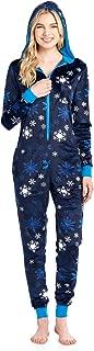 Women's Fleece Hooded One Piece Pajama Union Jumpsuit