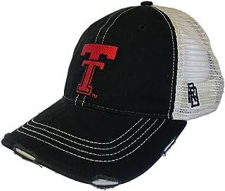 Texas Tech Red Raiders Retro Brand Black Vintage Worn Mesh Back Snapback Hat Cap