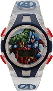 Marvel AVGKD16012LS Boys Avengers LCD Digital Watch...