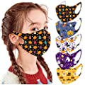 5 PC Halloween Reusable Vintage Unisex Adult Face Bandanas Washable Breathable Cotton by Guo Nuoen