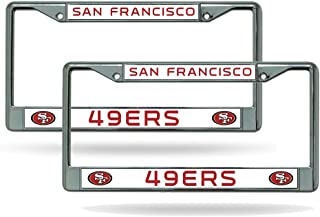 San Francisco 49ers Chrome License Plate Frame - Set of 2