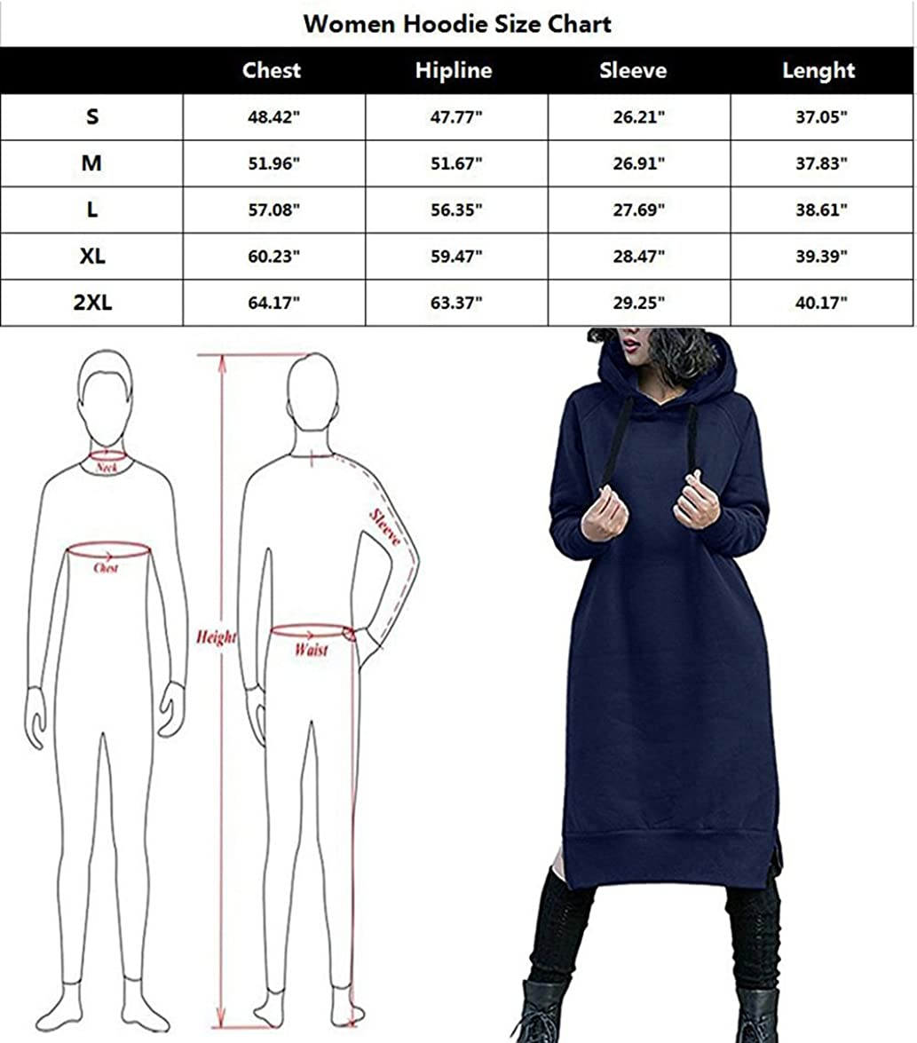 Nutexrol Damen Winter Hoodie Kapuzenpullover Lang Kapuzenjacke Sweatjacke Übergröße Kleider Sweatshirt Warm Outwear mit Fleece-Innenseite Violett