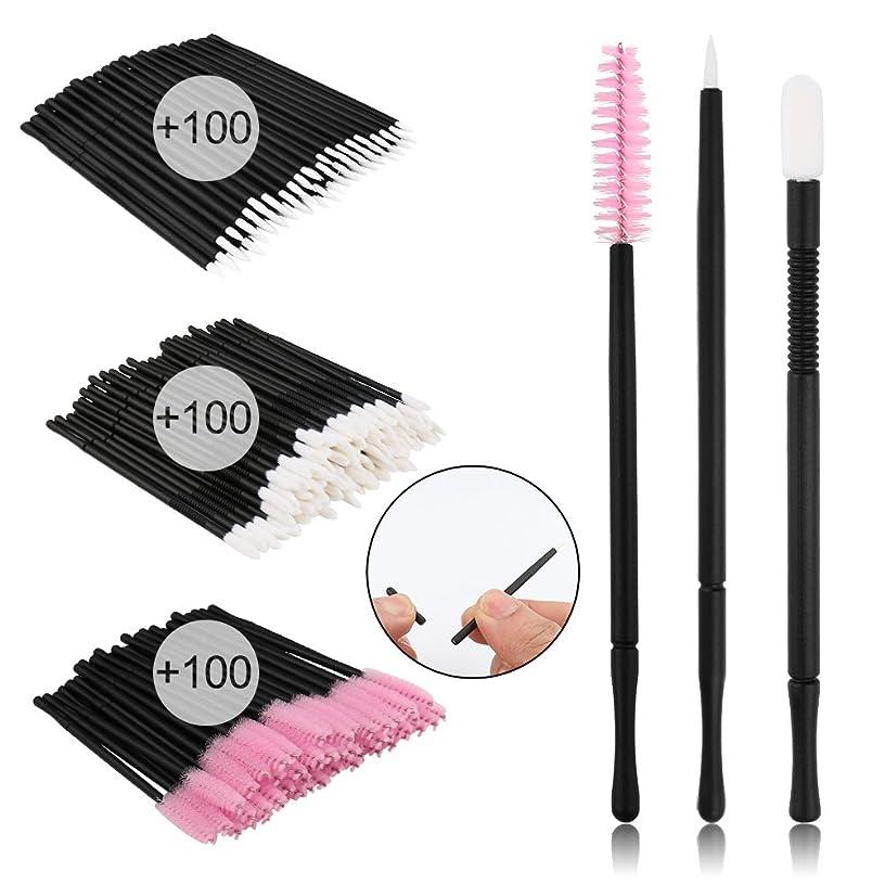 Accmor 300 Pcs Disposable Lip Brushes Makeup Brush Lipstick Lip Gloss Wands Applicator Makeup Beauty Tool Kits