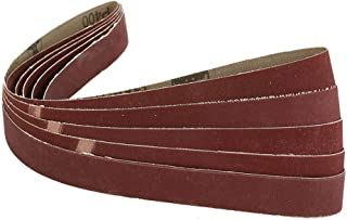 Daliva THGS 5 Pack 1 inch x30 inch Inch 25x762mm 400 Grit Sanding Belts AL Oxide For Metal Working - (Color: Red)