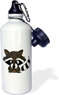 3dRose wb_196236_1 Cute And Funny Raccoon Sports Water Bottle, 21Oz, Multicolored