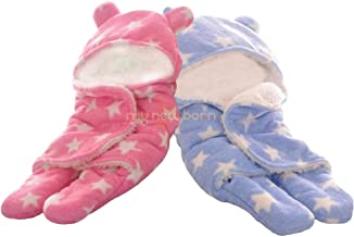 My Newborn Baby Blanket Wrappers Supersoft 2 Layer -Combo of 2 Pcs (Sky+Pink)