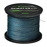 JIMEI Braided Fishing line 30LB 1000m/1094yds 4 Strands Gray PE Braid Superline - Abrasion Resistance Fishing Line - Zero Stretch - Thinner Diameter for Saltwater & Fresh Water by DYMALAN