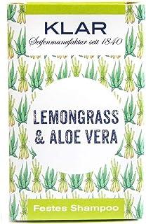 "Klar""s - Bar Shampoo - Lemongrass & Aloe Vera - festes Shampoo - für fettiges Haar - 100 g"