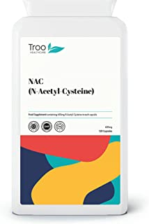 Troo NAC Supplement 600mg - 120 Capsules - N Acetyl Cysteine Amino Acid Providing Non Toxic Stable Form of L-Cysteine - UK...