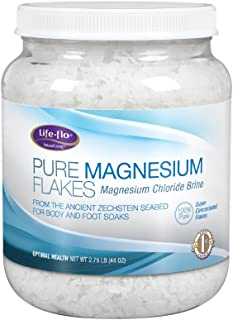 Life-Flo Pure Magnesium Flakes | Magnesium Chloride Brine from Zechstein Seabed | For Relaxing & Rejuvenating Body and Foo...