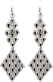 Earrings E16–N SG Liquid Metal by Sergio Gutierrez. SG black velvet pouch included. Chrome finish