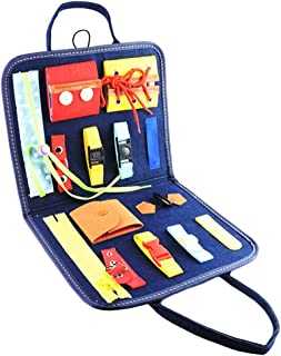 Generic Busy Board for Toddlers Learn to Dress Toys Kids Toy for Airplane Car Travel Age 3+