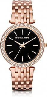 Michael Kors Women's Black Dial Stainless Steel Band Watch - MK3402