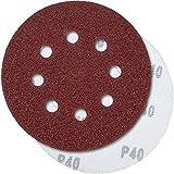 PRETEX 60 Profi Klett-Schleifscheiben für Exzenter-Schleifer 8 Loch, Ø 125 mm | Schleifpapier Set, Schleifblätter, Schleifblatt Set, Schleifscheiben Set