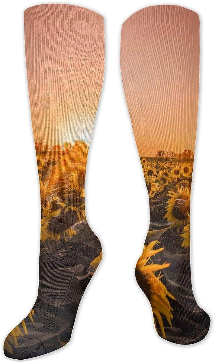 Sunflowers Farm Knee High Socks Leg Warmer Dresses Long Boot Stockings For Womens Cosplay Daily Wear
