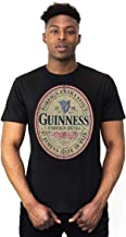 Guinness Distressed English Label T-Shirt - Cotton Black Graphic Short Sleeve