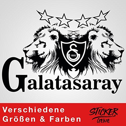 Galatasaray Aslan Wandtattoo Aufkleber Auto Sticker Autosticker Autoaufkleber Istanbul Gala Ultraslan (75cm (B) x 51,87cm (H), Schwarz)