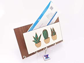 Porta Chaves e Cartas Cacto Madeirado Tabaco