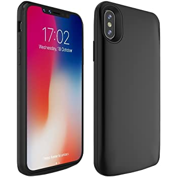 JLW iPhone X Battery Case, 5500mAh Portable Charger Case External Battery Pack with Sync Through and Protective Charging Case for Apple iPhone X / 10