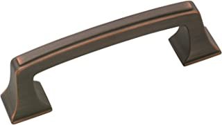 Amerock BP53030ORB Square Cabinet Pull, 3 in (76 mm) Center-to-Center, Oil-Rubbed Bronze