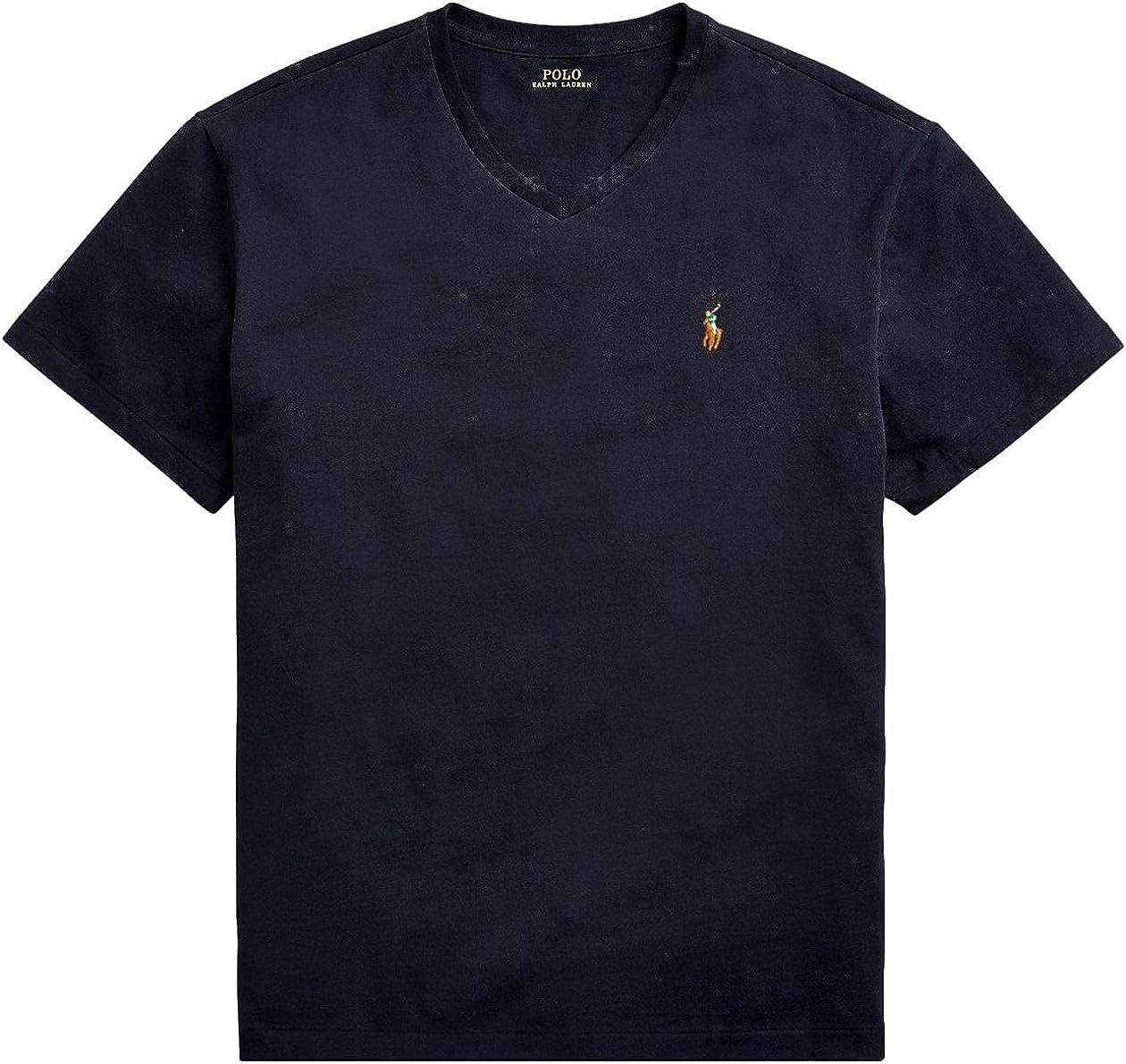Polo Ralph Lauren Mens Big and Tall T-Shirt Jersey V-Neck T-Shirt