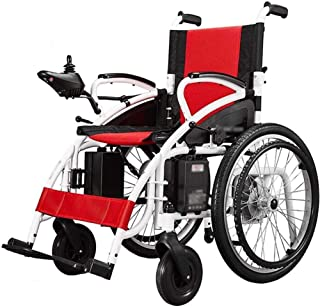 Sillas de ruedas eléctricas para adultos Silla de ruedas eléctrica plegable motorizado sillas de ruedas eléctricas, sillas de ruedas potente motor dual, ligero, sólo 37 kg, de alta resistencia, con si