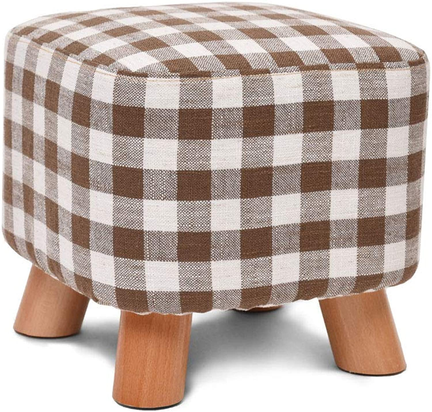 ZSLLO Solid Wood shoes Bench Creative Square Stool Fabric Stool Stool Sofa Stool Coffee Table Bench Home Stool (color   G)