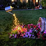 ZNYCYE 8 Modes Watering Can Lights,Solar Powered Firefly Bunch Lights 10 Strand 200 LED Cascading Waterproof Waterfall String Lights for Christmas Party Outdoor Decorations (Warm White)