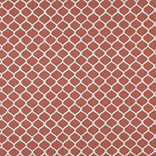 Designer Fabrics K0008C 54 in. Wide Persimmon And Off White44; Modern44; Geometric Designer Quality Upholstery Fabric
