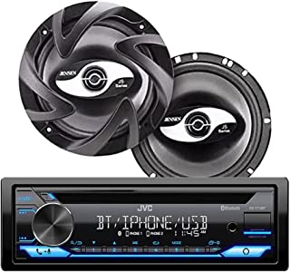 $199 » JVC KD-T710BT CD Receiver Bundled with + (1) Pair JS265 2-Way Coaxial Car Speakers