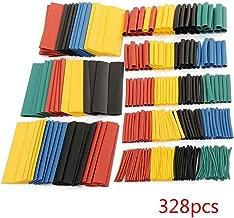 Babysbreath17 328pcs calor colorido tuber/ía del encogimiento manguitos del cable del abrigo del alambre Tubos Set 8 Tama/ño