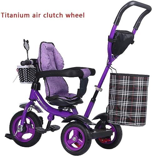Hhor Roues de vélo de vélo de Titane d'enfants, Tricycle d'enfants, Chariot léger, bébé bébé Landau, (Couleur   5) (Couleuré   -, Taille   -)