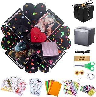 Zobidobi Creative Explosion Box,DIY Handmade Photo Album Scrapbooking Gift Box,Surprise Box for Love Memory,Birthday Party, Valentine's Day, Mother's Day Wedding