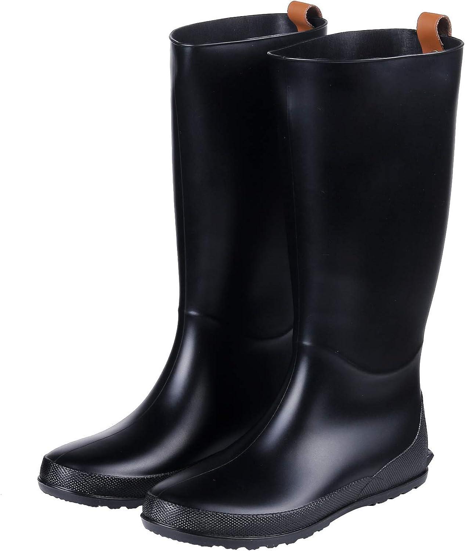 Tall Rain stövlar stövlar stövlar Flat Heel ljusljus Wellies Rain stövlar Vattensäkra Garden skor  varumärke på försäljningsbevis
